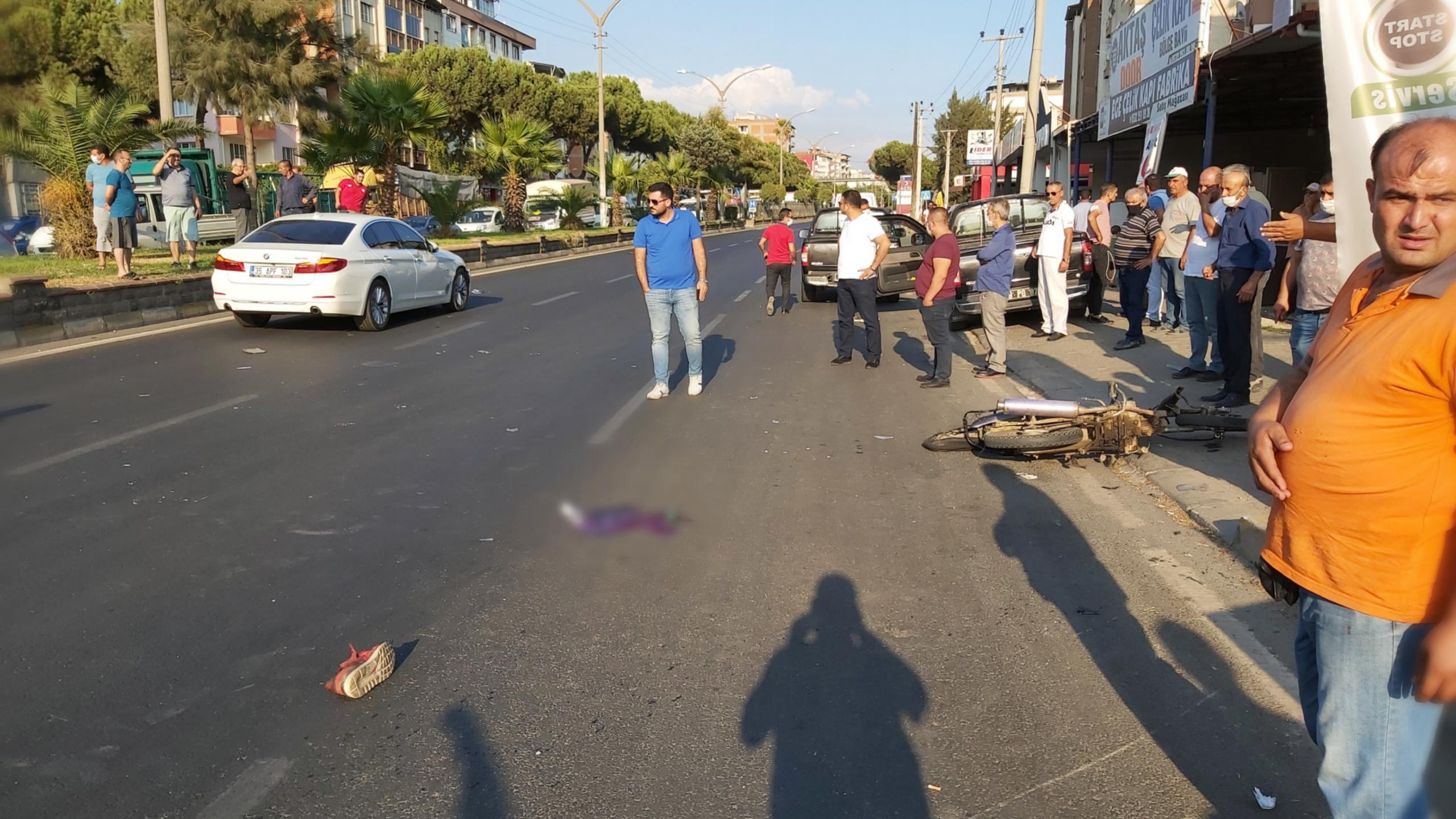 Nazilli'de Feci Kaza; Motosillet Sürücüsü Ağır Yaralı