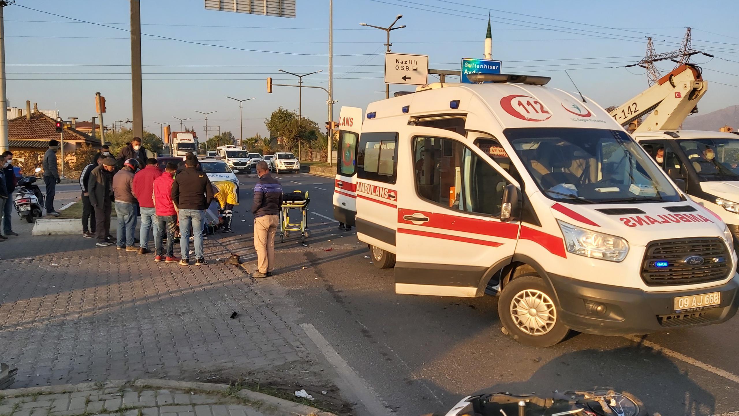 Nazilli'de Yürekleri Ağızlara Getiren Kaza